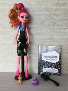 Monster High Gigi Grant 13 Wishes Doll Diary Pet Lamp Accessories