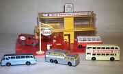 Lesney Matchbox Mg1 Service Station Lot Pump Sign Rare Esso Van Truck And Bus