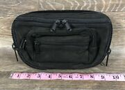 Small Dtom Concealed Carry Fanny Pack Rugged Ultra-soft Suede Leather-black
