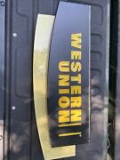 Western Union Original Collectible Light Up Sign Led Man Cave Or Store Use