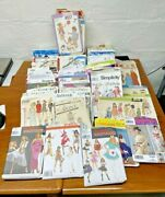 116 Vintage Sewing Patterns Mixed Lot, Most Not Even Open, Costume, Kids, Women