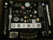 Menand039s And Womenand039s Junk Drawer Lot/gold Filled And Silver Items