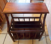 Mid Century Mahogany Imperial Magazine Rack End Table / Side Table Rp-t6