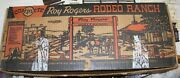 Marx Roy Rogers Rodeo Ranch Play Set Boxed With House And Extras