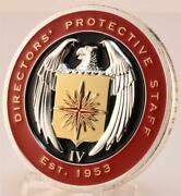 Central Intelligence Agency Cia Directorsand039 Protective Staff Red Challenge Coin