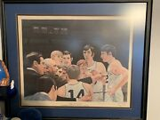 The Huddle Print Adolph Rupp Signed Numbered 61/1000 Kentucky Wildcats