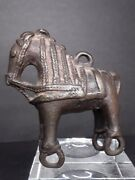 18th C Hindu Bronze Temple Horse Pull Toy