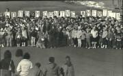 1987 Press Photo About 400 Students And Staff At Lincoln Elementary To Be On Tv.