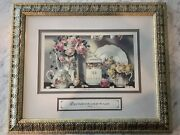 Sandy Lynam Clough Tea And Roses Print And Frame