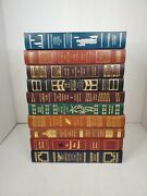 Franklin Mystery 10 Book Lot Hc Faux Leather Jekyll Dorian Gray Postman Dickens
