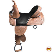 C-k-16 16 In Western Horse Saddle Treeless Trail Barrel Racing American Leather