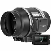 Vivosun 6 Inch 324 Cfm Inline Duct Fan With Temperature Humidity Controller Vent