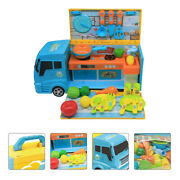 1pc Fast Food Truck Toy Kitchen Ware Kid Children Pretend Play Cook Educational