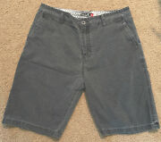 Quick Silver Vintage 90andrsquos Menand039s Gray Shorts Size 33 Mountain And Wave