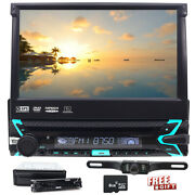 7 Single 1 Din Car Cd Dvd Player In Dash Stereo Lcd Touch Screen Bt Aux Radio