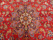 10and039x17and039 Antique Handmade Wool Vintage Authentic Isfahhan Oriental Area Rug