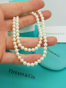 And Co. Ziegfeld Collection 5-6 Mm Pearl 16.5 Classic Necklace Rrp Andpound600