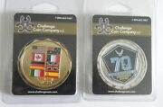 Lot Of 2 Military Challenge Coins 70th Air Force / Middle East