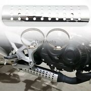 Motocycle Curve Exhaust Muffler Pipe Heat Shield Cover Heel Guard For Choppers