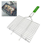 Bbq Fish Grilling Basket Vegetables Meat Steak Foldable Grill Net Accessory