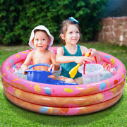 Inflatable Swimming Pools Above Ground Pool 4 Ft Circular Kids Family Outdoor