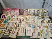 50+ Vintage 1960s/70s Sewing Pattern Lot Vogue Marian Martin Simplicity Mccalls