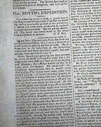 General Alexander Smyth War Of 1812 Failed Attack On Canada W/ Letter Newspaper