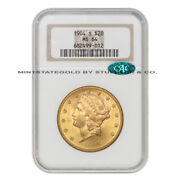 1904-s 20 Gold Liberty Head Double Eagle Ngc Ms64 Cac Certified Choice Graded