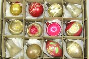 Lot Antique Vtg Mercury Glass Bell Indent Teardrops Christmas Ornaments Germany