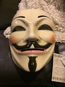 Anonymous Mask Handcrafted In Venice Italy With Coa Bought In Venice