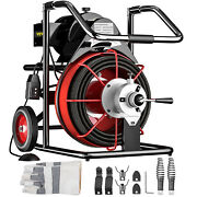 Vevor 100and039 X 1/2 Drain Cleaner 550w Electric Sewer Snake Machine W/ Cutters