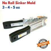 No Roll Bank Sinker Mold For Fishing Weight Deep Water 3 4 5 Oz Lead Pouring New