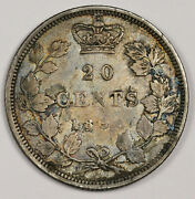 1858 Twenty Cent. Canada. Natural Uncleaned.  Xf-au. 163049