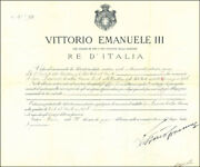 King Victor Emmanuel Iii Italy - Civil Appointment Signed 06/28/1914