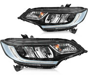 Fits 2014-2020 Honda Fit Led Replacement Headlights Pair Assembly Headlamps Set