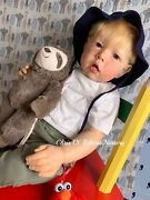 Reborn Baby Doll Toddler Liam By Bonnie Brown Made By Chris Ly. It's A Boy