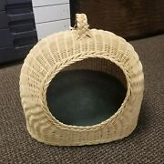 New Hancock Baskets New Hampshire Cat Small Dog Pet Bed Hand-woven Handled