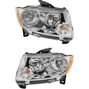 New Headlight Lamp Driver And Passenger Side Lh Rh For Jeep Ch2502224c, Ch2503224c
