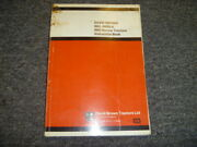 Case David Brown 885 885g And 885 Narrow Tractor Owner Operator Instruction Manual
