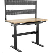 Hanover Hgs001-blk 24-in. Wide Natural Wood Motorized Work Bench