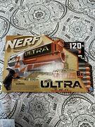 Nerf Ultra Two 6x Motorized Firing, Fast Back Reloading Color Orange And White.