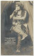 1911 Falstaff Beer Advertising - Real Photo Pretty Woman, Cowgirl, Lemp Brewery