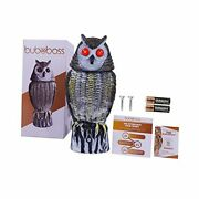 Fake Scarecrow Owl Decoy |16 Inch Solar Powered Motion Activated Plastic Owl