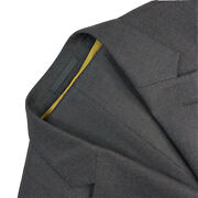 40 R Stanley Ley London Robe Makers Charcoal Grey Pin Dot Wool Suit Made England