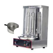 Electric Vertical Broiler Shawarma Doner Kebab Gyro Grill Machine With Meat