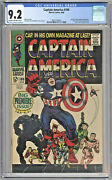 Captain America 100 1968 Cgc 9.2 Stan Lee Black Panther Silver Age Marvel Comic