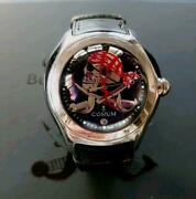 Watch Corum Bubble Privateer Collector Series Limited Skull Ss Black With Box