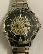 New Elgin Silver Stainless Steel Automatic Menandrsquos Watch Fg8030.