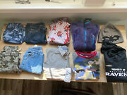 Boys Lot Of 10 Items Size 10 - Pants 4 Tops Sweatshirts 4 1-hat And 1 Pjs