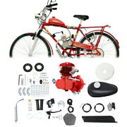 Red 80cc Motor Engine Kit Gas For 2-stroke Motorized Bicycle Bike Cycle Diy